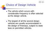 choice of design vehicle10