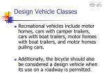 design vehicle classes6