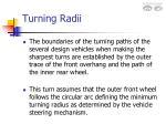 turning radii12