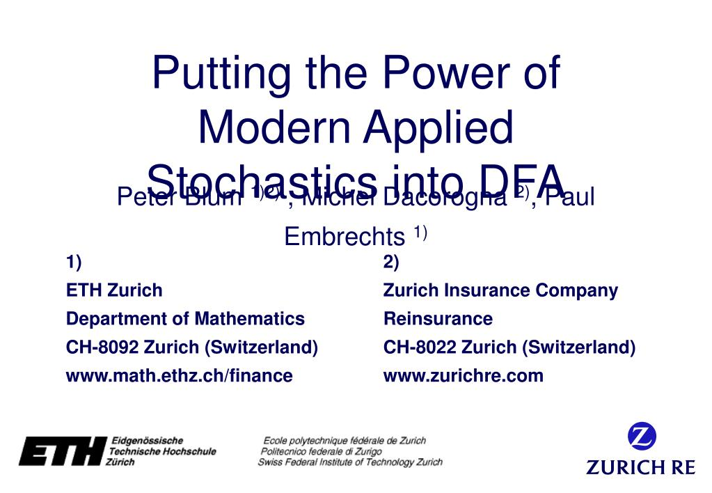 putting the power of modern applied stochastics into dfa l.