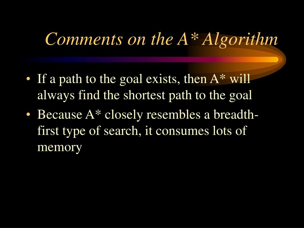 Comments on the A* Algorithm