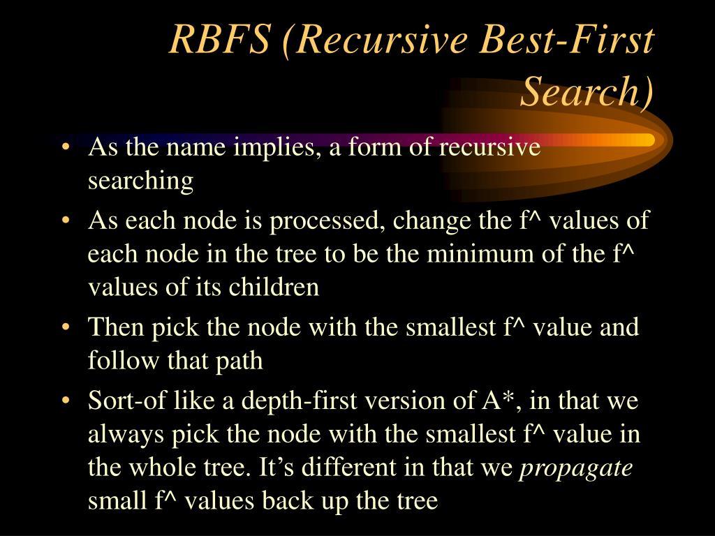 RBFS (Recursive Best-First Search)