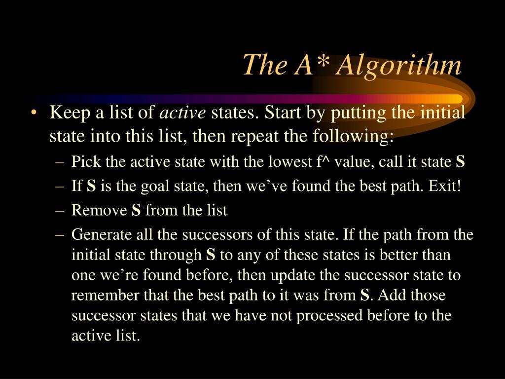 The A* Algorithm