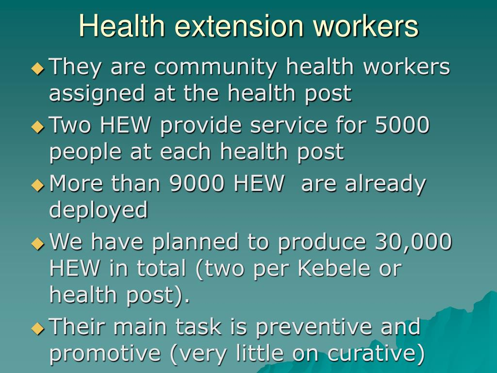 Health extension workers