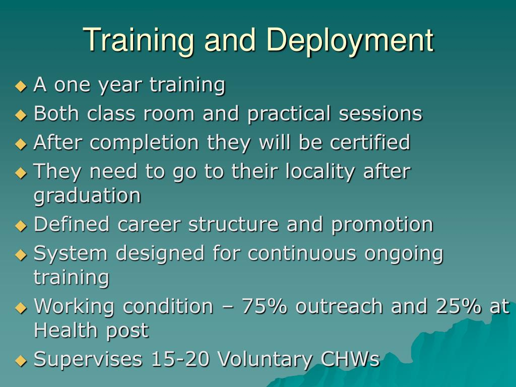 Training and Deployment