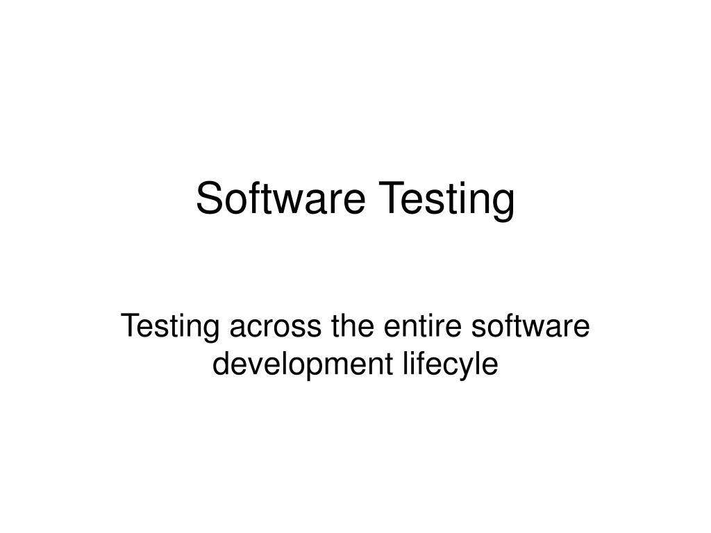 software testing l.