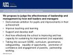 we propose to judge the effectiveness of leadership and management by how well leaders and managers