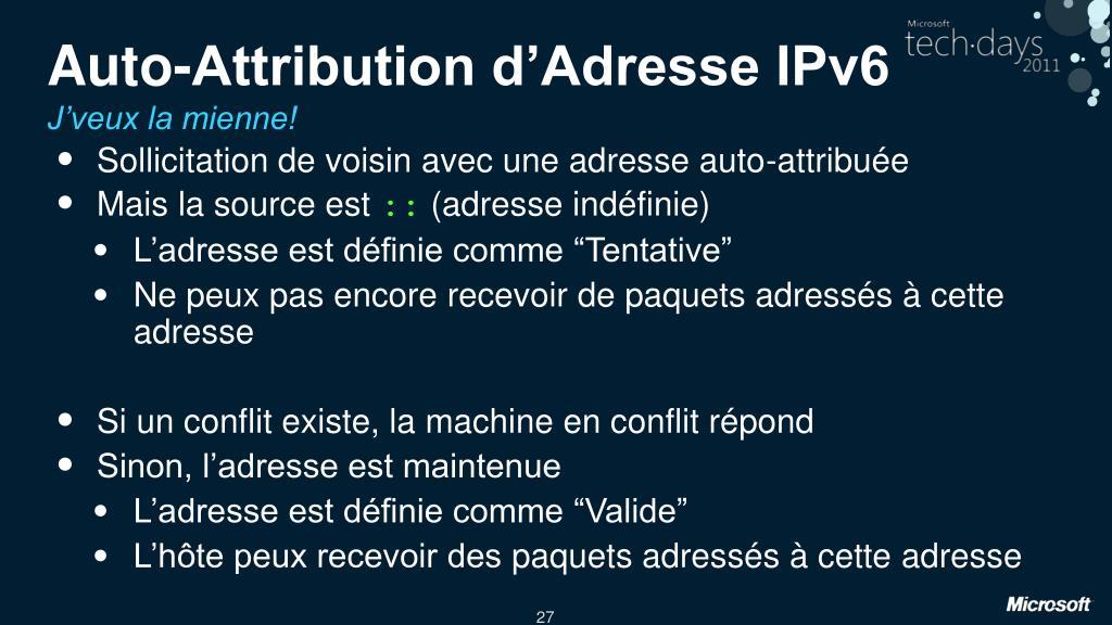 Auto-Attribution d'Adresse IPv6