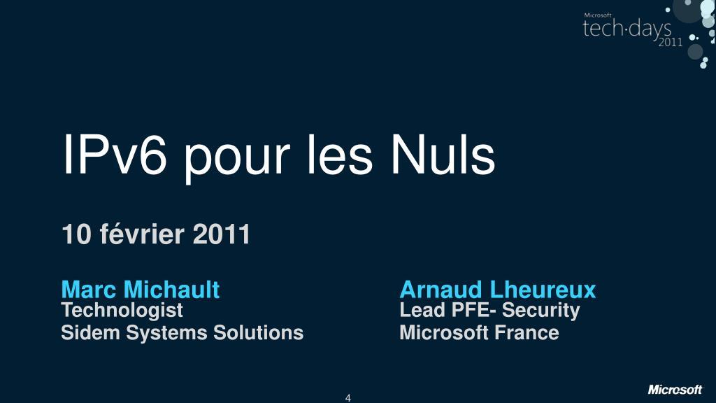 IPv6 pour les Nuls
