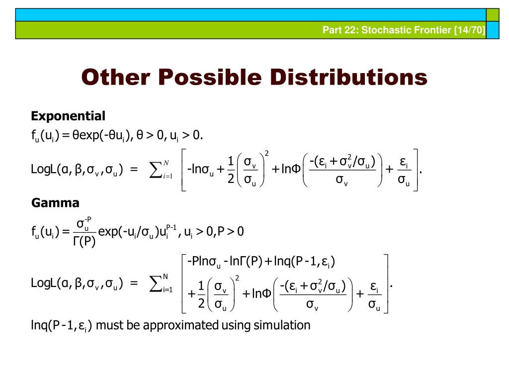 Other Possible Distributions