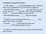 complete using past tenses