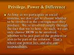 privilege power difference