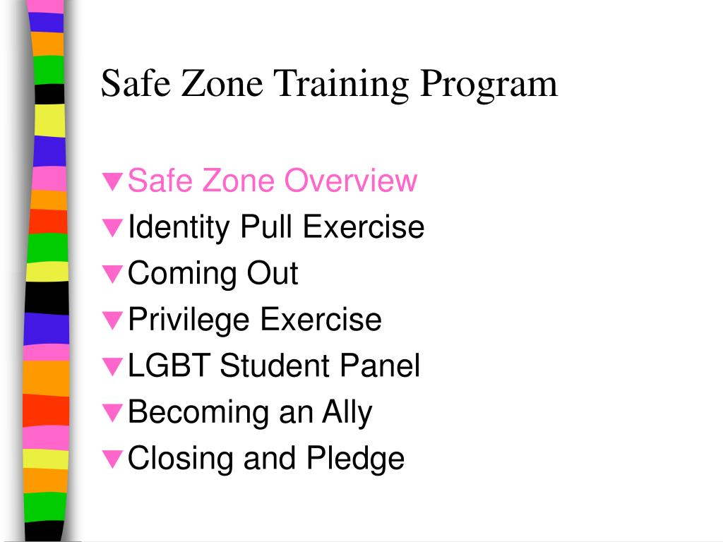 Safe Zone Training Program