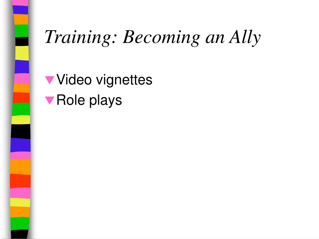 Training: Becoming an Ally