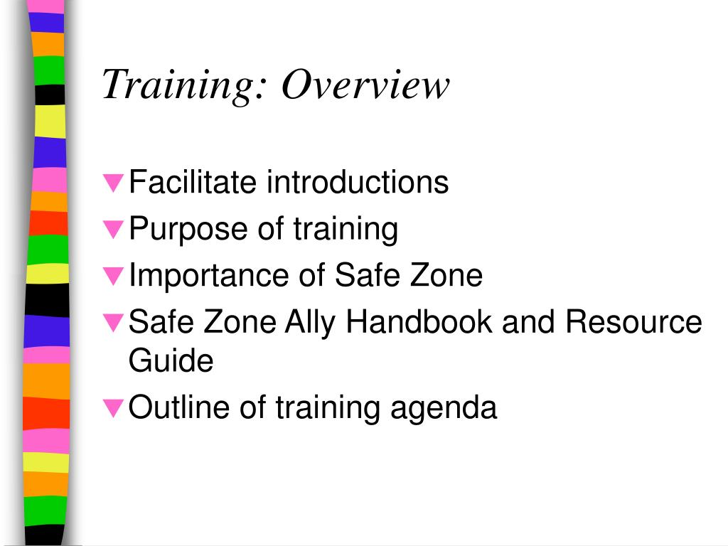 Training: Overview