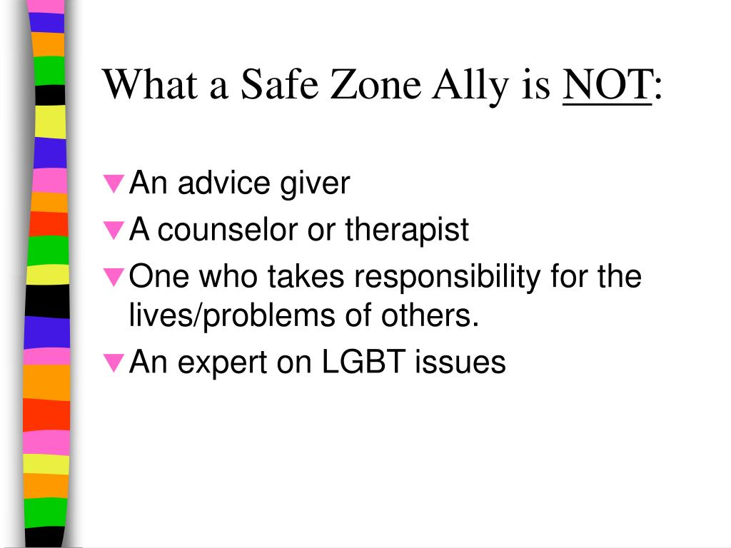 What a Safe Zone Ally is