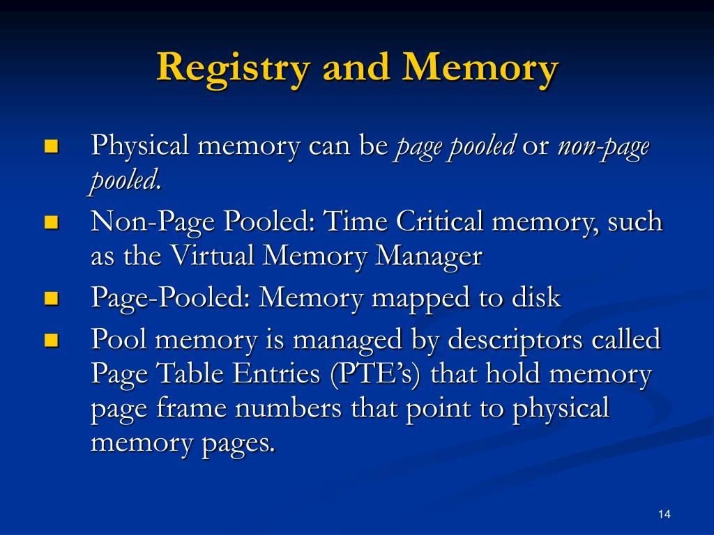 Registry and Memory