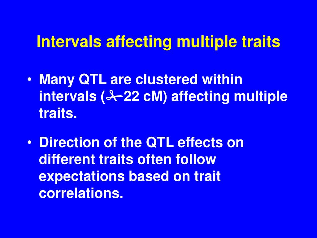 Intervals affecting multiple traits