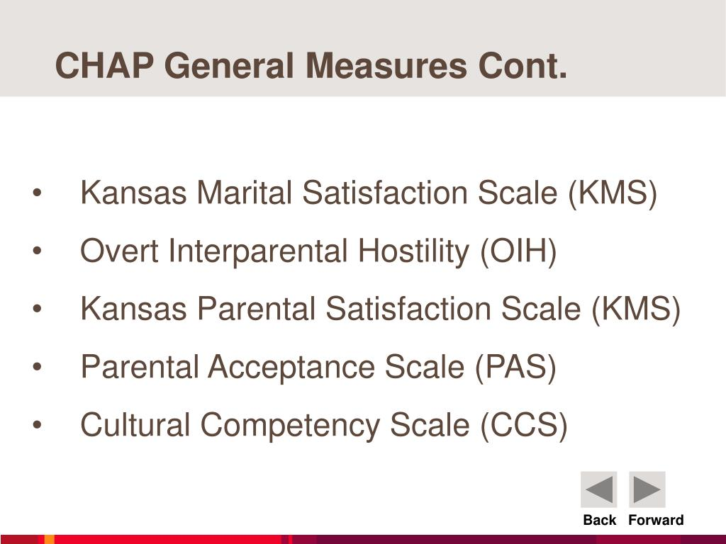 CHAP General Measures Cont.
