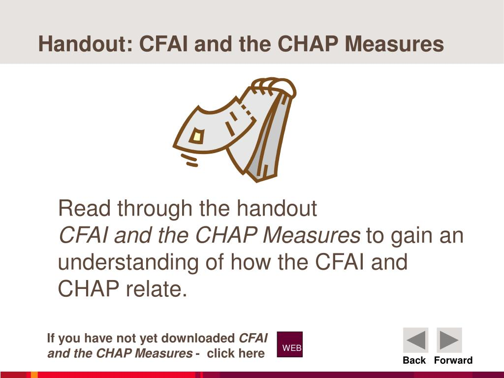 Handout: CFAI and the CHAP Measures