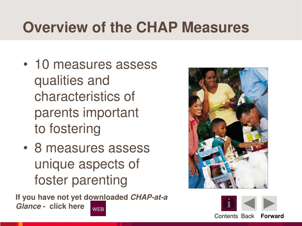 Overview of the CHAP Measures