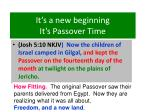 it s a new beginning it s passover time29