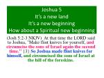 joshua 5 it s a new land it s a new beginning how about a spiritual new beginning6