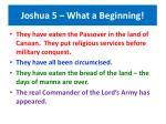 joshua 5 what a beginning49