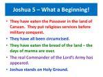 joshua 5 what a beginning50