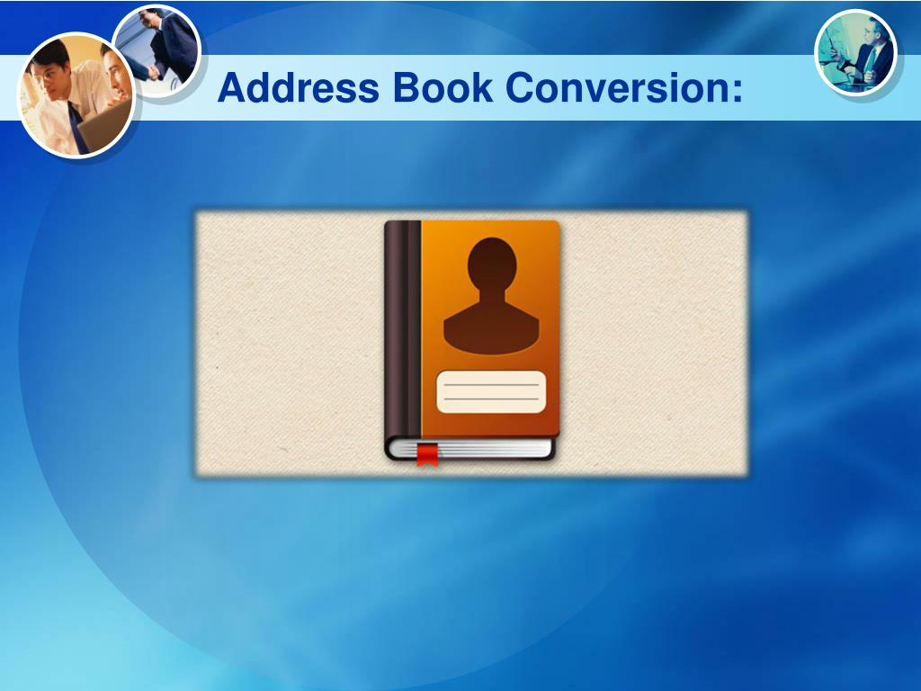 Address Book Conversion: