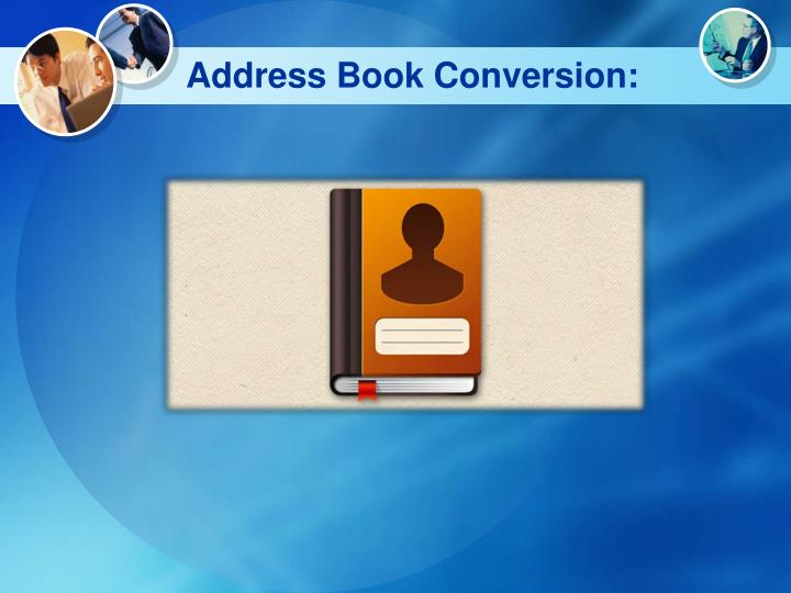 Address book conversion