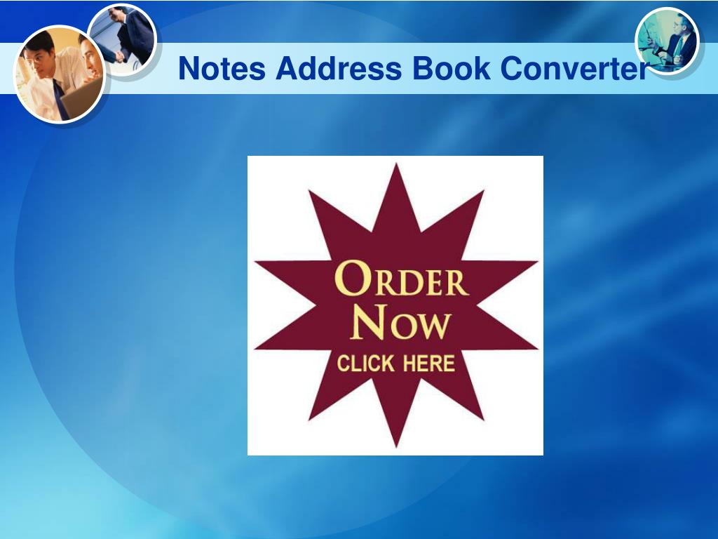 Notes Address Book Converter