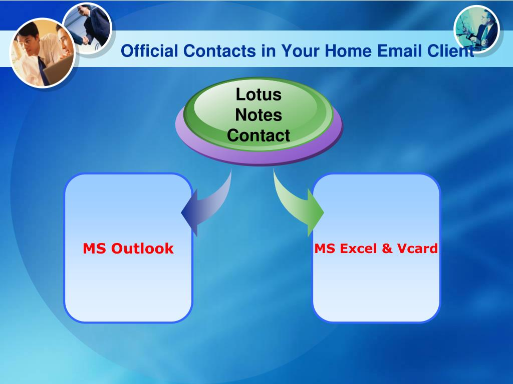Official Contacts in Your Home Email Client