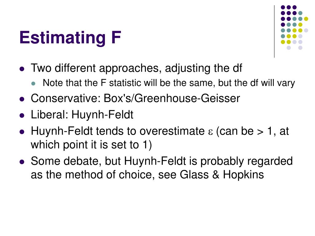 Estimating F