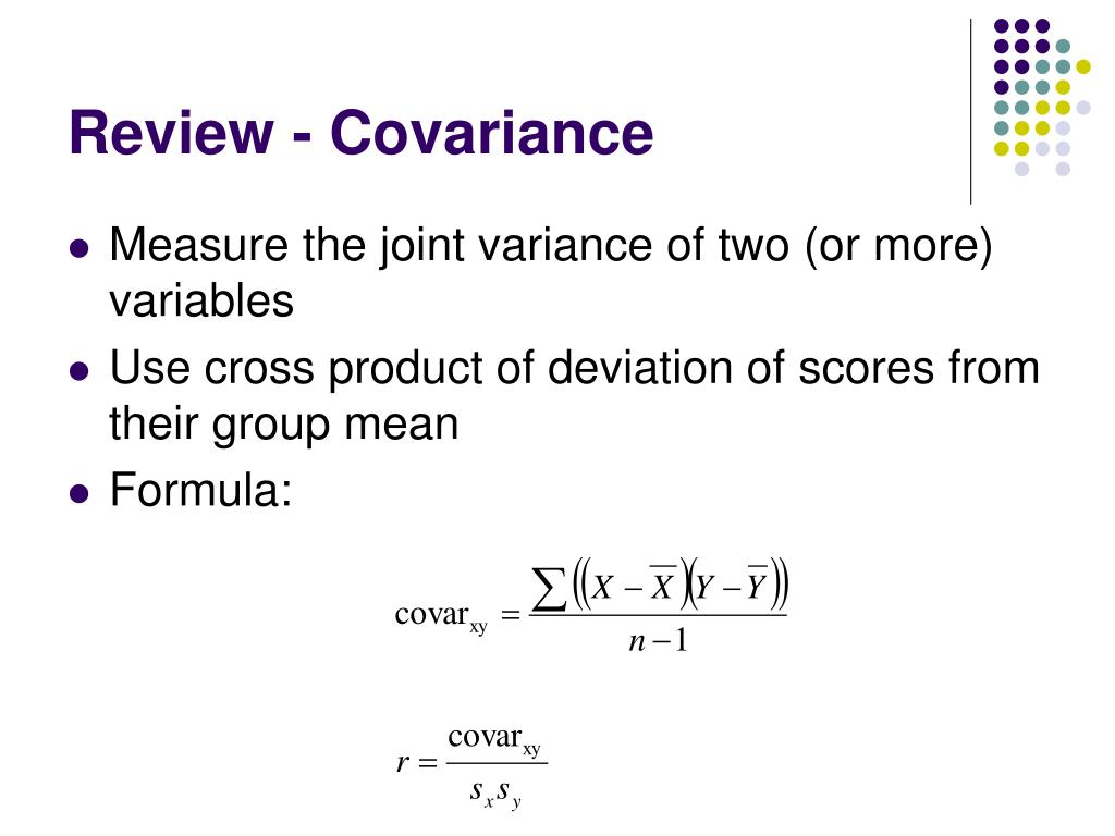 Review - Covariance