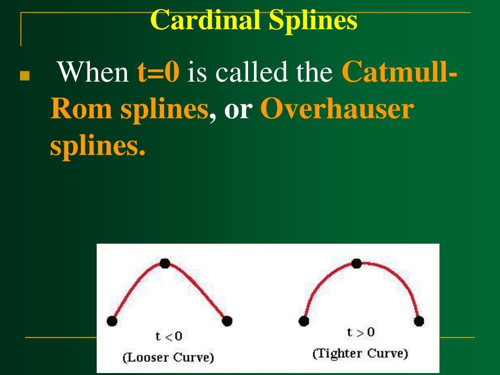 Cardinal Splines