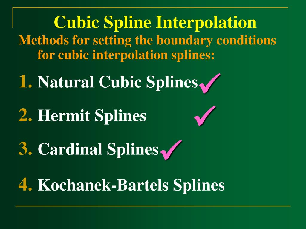 Cubic Spline Interpolation