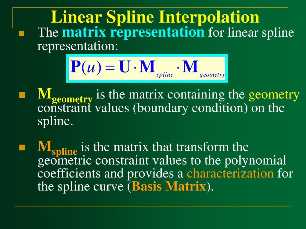Linear Spline Interpolation