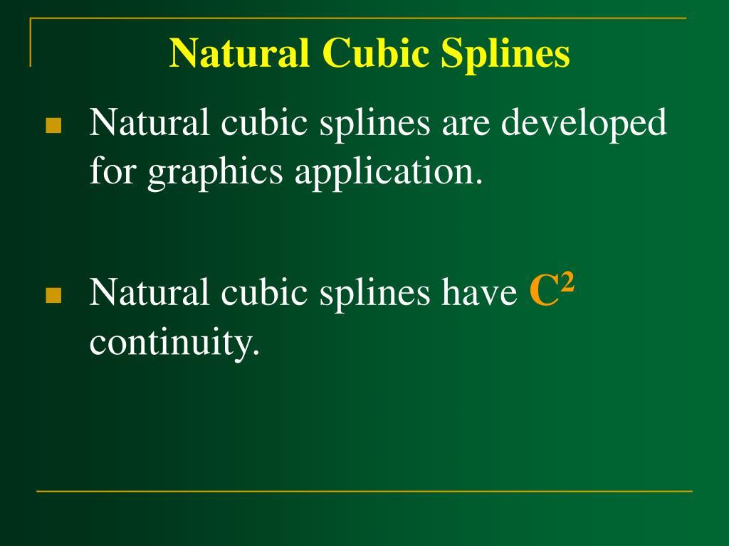 Natural Cubic Splines