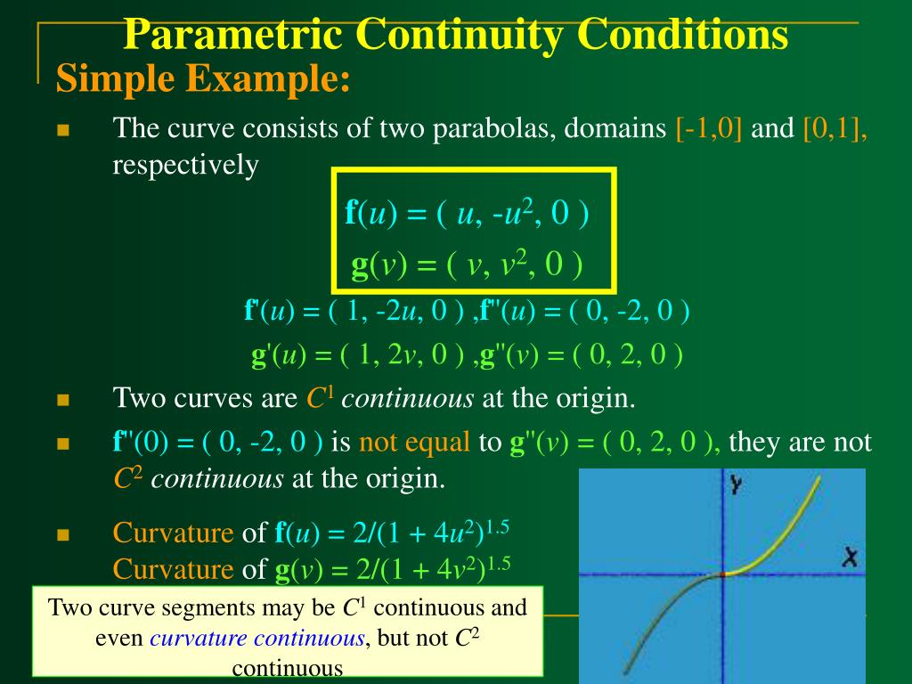 Parametric Continuity Conditions