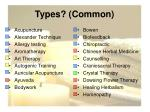 types common