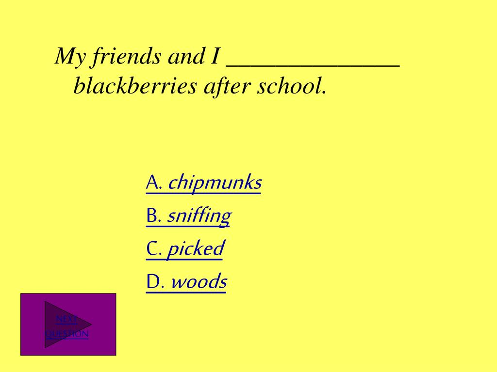 My friends and I ______________ blackberries after school.