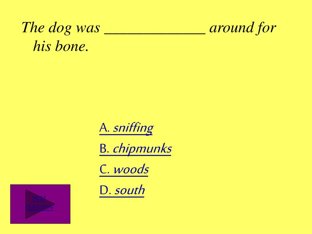 The dog was _____________ around for his bone.