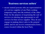 business services sellers