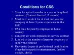 conditions for css