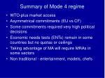 summary of mode 4 regime