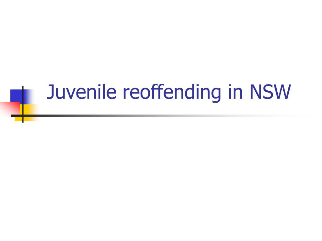 Juvenile reoffending in NSW