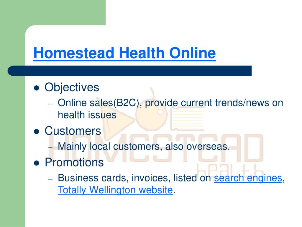 Homestead Health Online
