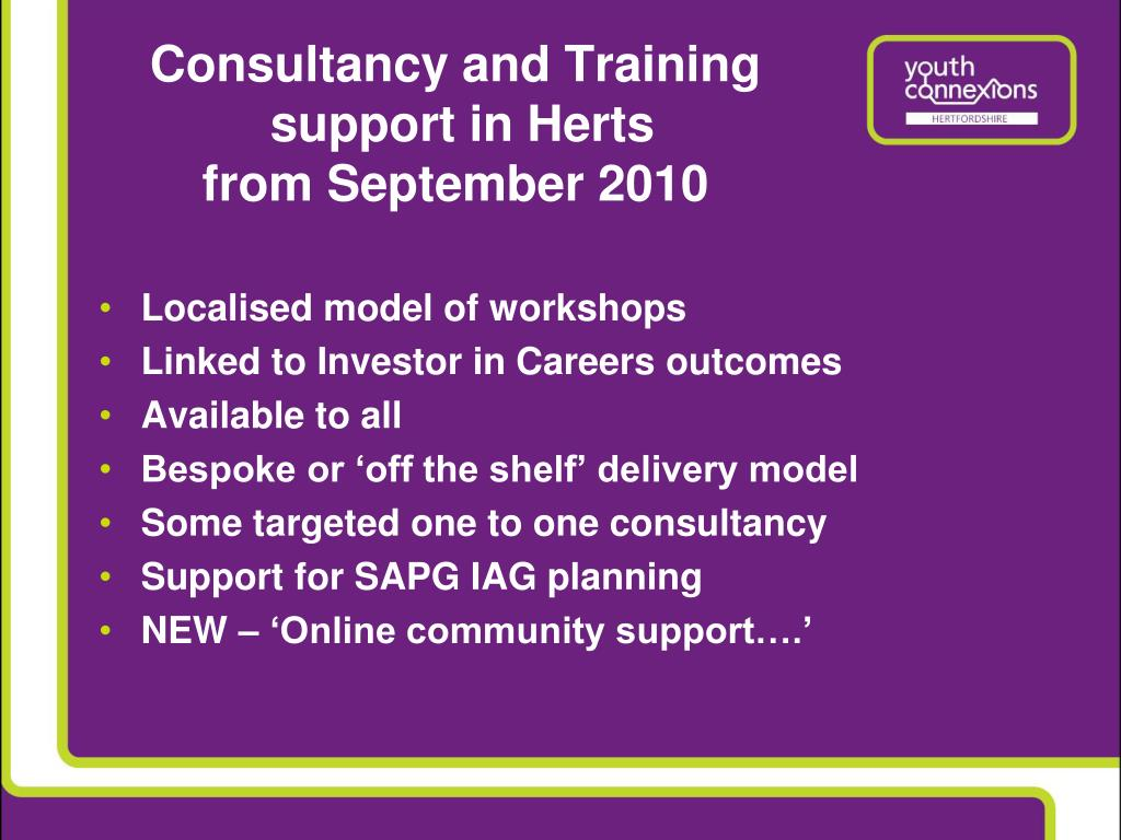 Consultancy and Training