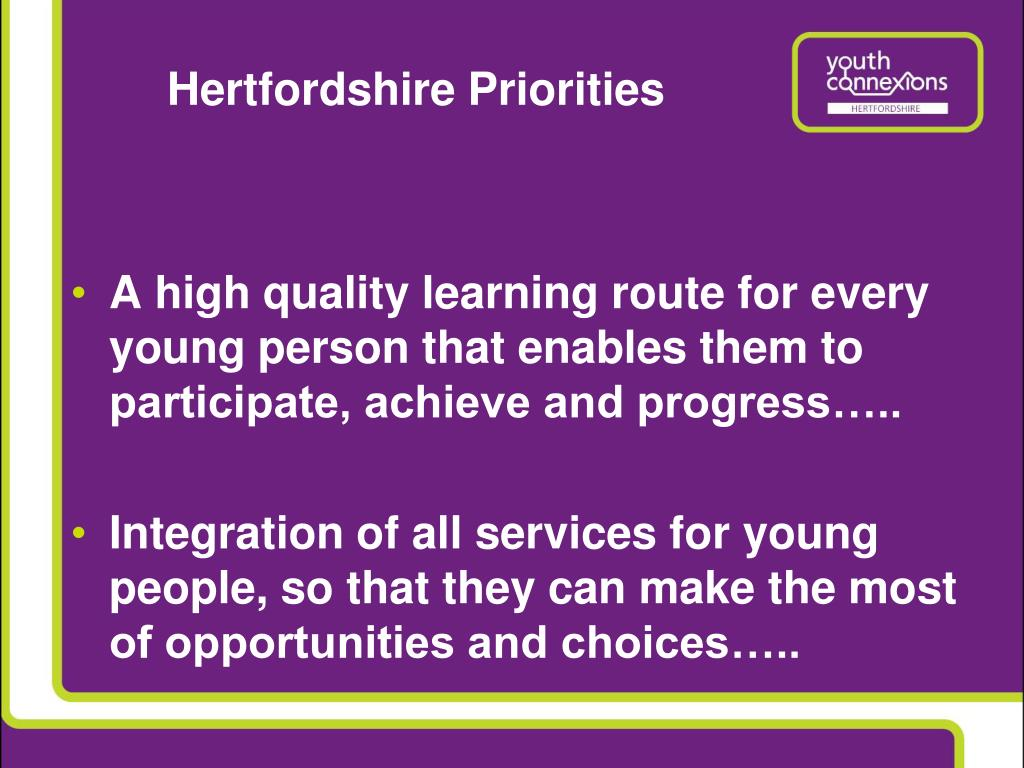 Hertfordshire Priorities
